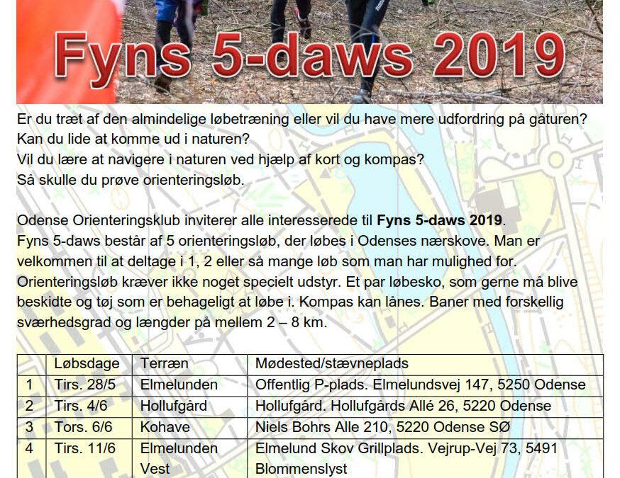 Indbydelse til Fyns 5 daws